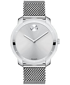 Unisex Swiss Bold Stainless Steel Mesh Bracelet Watch 36mm 3600241