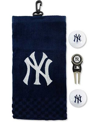 Team golf new york yankees golf towel gift set bath for Yankees bathroom decor