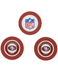 Team Golf San Francisco 49ers 3-Pack Poker Chip Golf Markers