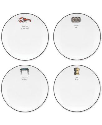 Concord Square Cause a Stir Set of 4 Tidbit Plates