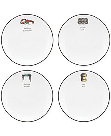kate spade new york Concord Square Cause a Stir Set of 4 Tidbit Plates