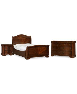 Bordeaux II 3-Pc. Bedroom Set (Queen Bed, Dresser, & Nightstand), Created for Macy's