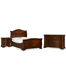 Bordeaux II 3-Pc. Bedroom Set (California King Bed, Nightstand & Dresser), Created for Macy's