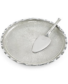 Simply Designz Serveware, Organic Fluted Cake Plate and Server