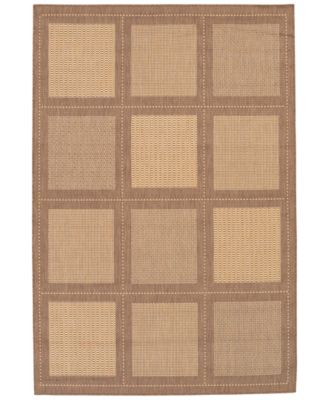 "CLOSEOUT! Area Rug, Recife Indoor/Outdoor Summit/Natural-Cocoa 1043/3000 2'3"" x 11'9"" Runner"