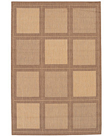 "CLOSEOUT! Couristan Area Rug, Recife Indoor/Outdoor Summit/Natural-Cocoa 1043/3000 2'3"" x 11'9"" Runner"
