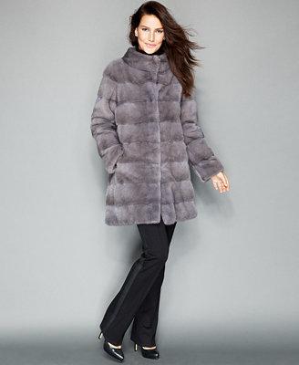 Three Quarter Length Mink Fur Coat by The Fur Vault