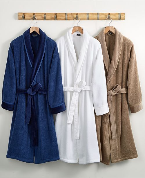 Hotel Collection CLOSEOUT! Velour Luxury Bathrobe