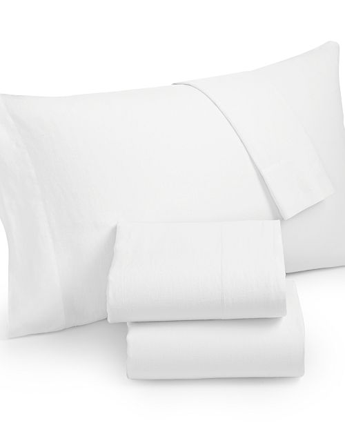 Hotel Collection CLOSEOUT! Linen White California King Fitted Sheet