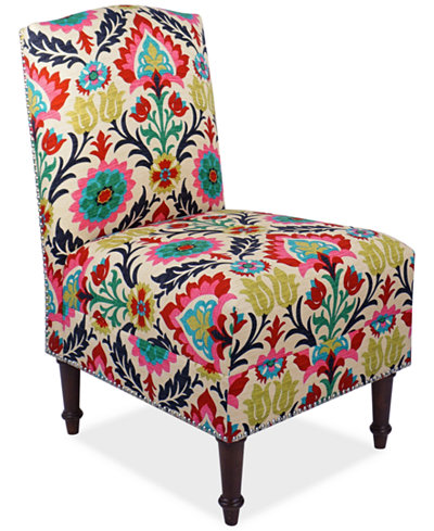 Barstow Santa Maria Fabric Accent Chair, Quick Ship, Created for Macy's