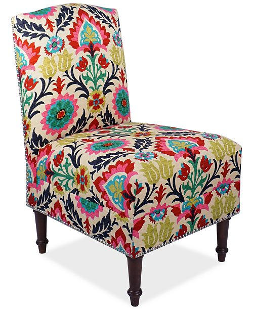 Skyline Barstow Santa Maria Fabric Accent Chair, Quick Ship, Created for Macy's