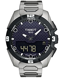 Men's Swiss Analog-Digital T-Touch Expert Solar Titanium Bracelet Watch 45mm T0914204405100