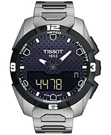 Tissot Men's Swiss Analog-Digital T-Touch Expert Solar Titanium Bracelet Watch 45mm T0914204405100