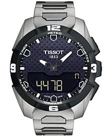 Tissot Men's Swiss Analog-Digital T-Touch Expert Solar Titanium Bracelet Watch 45mm T0914204405100