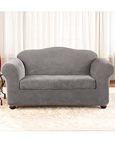 Sure Fit Stretch Pique 2-Piece Loveseat Slipcover