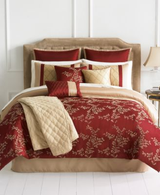 closeout! emerson 10 piece comforter sets - bed in a bag - bed