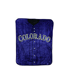Northwest Company Colorado Rockies Plush Jersey Throw Blanket