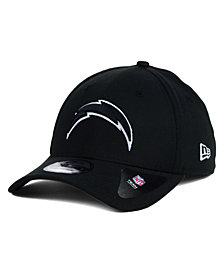 New Era San Diego Chargers Black and White Classic 39THIRTY Cap