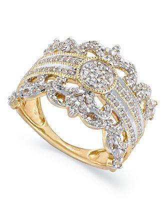 Yellow Gold Diamond Rings Macy s