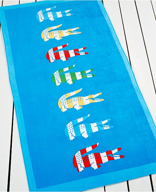 Lacoste CLOSEOUT! Bayadere Beach Towel