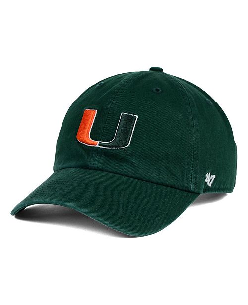 21a190a96a3ce 47 Brand Miami Hurricanes Clean Up Cap   Reviews - Sports Fan Shop ...