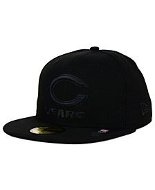 Chicago Bears NFL Black on Black 59FIFTY Fitted Cap