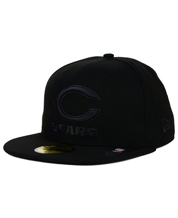 New Era Chicago Bears NFL Black on Black 59FIFTY Fitted Cap
