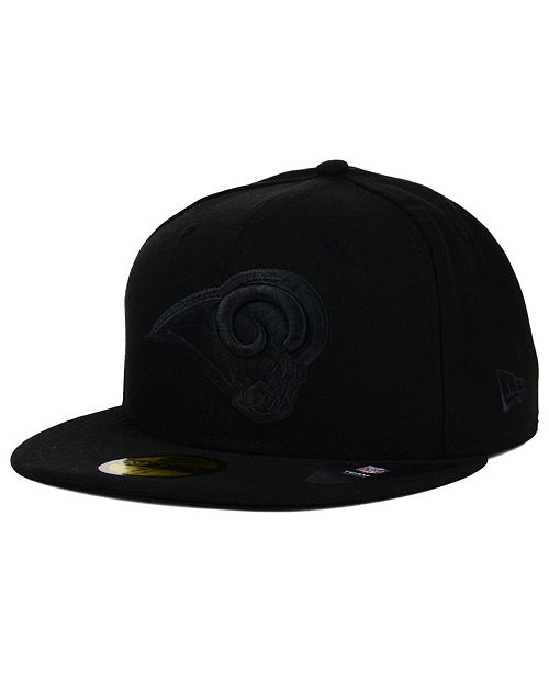 New Era Los Angeles Rams Black on Black 59FIFTY Fitted Cap