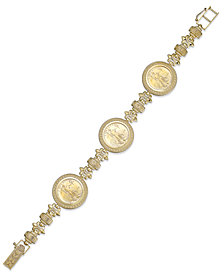 Genuine Eagle Coin Bracelet in 22k and 14k Gold