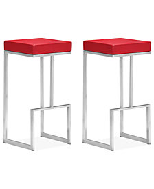 Tyson Set of 2 Bar Stools, Quick Ship
