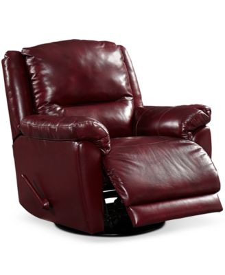 Hughstin Leather Swivel Glider Recliner  sc 1 st  Macyu0027s & Hughstin Leather Swivel Glider Recliner - Furniture - Macyu0027s islam-shia.org