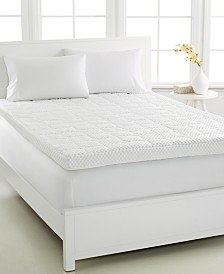 LAST ACT! Dream Science 4'' Memory Foam Mattress Toppers, VentTech Ventilated Foam, by Martha Stewart Collection, Created for Macy's