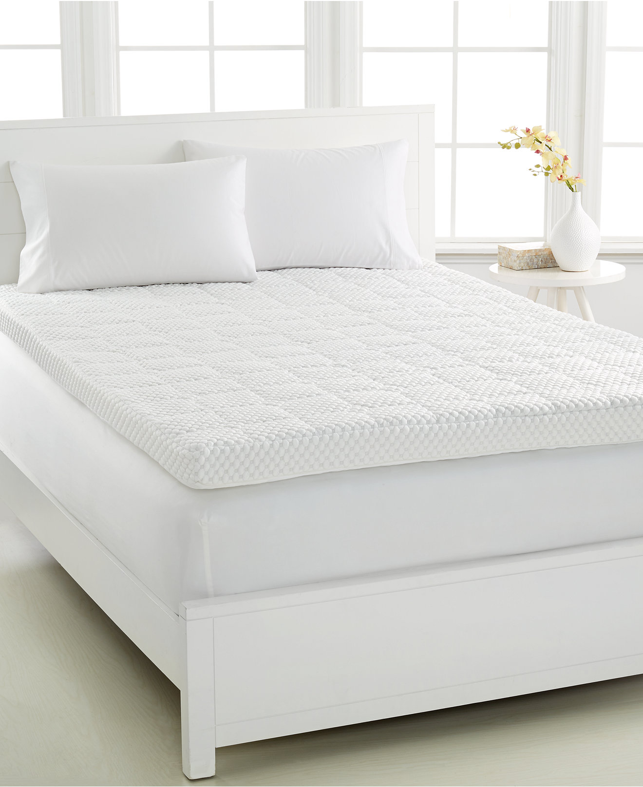 Dream Science 4'' Memory Foam Mattress Toppers, VentTech Ventilated Foam,