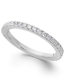 Diamond Wedding Band by Marchesa in 18k White Gold (3/8 ct. t.w.), Created for Macy's