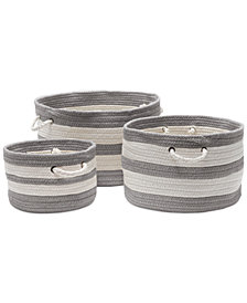 Colonial Mills Valley-Stripe 3 Piece Basket Set