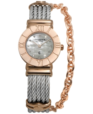 Charriol Women's Swiss St-Tropez Two-Tone Steel Cable Chain Bracelet Watch (25mm)