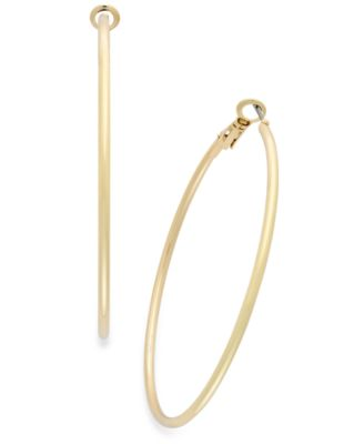 "Image of Thalia Sodi Medium 1.5"" Thin Hoop Earrings"