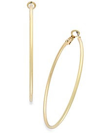 "Large 2.4"""" Thin Hoop Earrings"