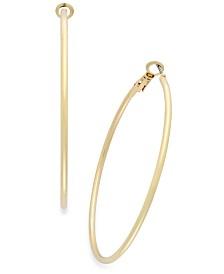 """Thalia Sodi Medium 1.5"""" Thin Hoop Earrings"""