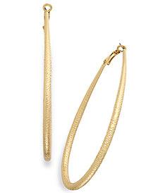 "Thalia Sodi Extra Large 3"" Diamond-Cut Teardrop Hoop Earrings, Created for Macy's"