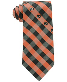 Eagles Wings Philadelphia Flyers Checked Tie