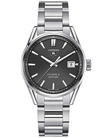 Men's Swiss Automatic Carrera Calibre 5 Stainless Steel Bracelet Watch 39mm