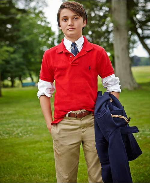 b9b96a98b2f15 Polo Ralph Lauren Big Boys Oxford Shirt   Suffield Pants   Reviews ...