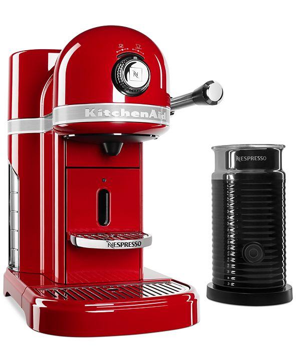KitchenAid Nespresso Espresso Maker with Milk Frother KES0504