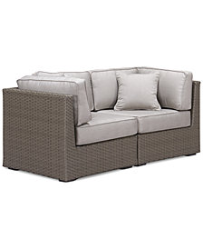 CLOSEOUT! South Harbor Outdoor 2-Pc. Modular Seating Set (2 Corner Units), Created for Macy's