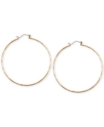 Lucky Brand Big Hammered Hoop Earrings