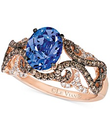 Tanzanite (1 ct. t.w.) and Diamond (5/8 ct. t.w.) Ring in 14k Rose Gold