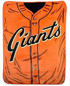 Northwest Company San Francisco Giants Plush Jersey Throw Blanket