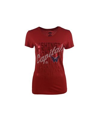 VF Licensed Sports Group Women's Washington Capitals Hip Check T-Shirt