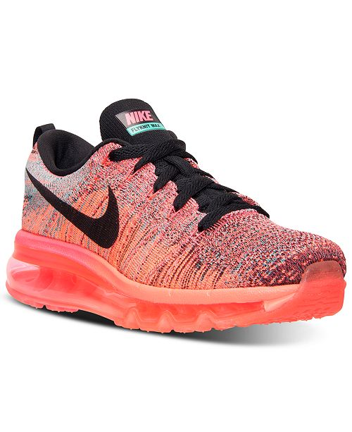 huge selection of e3fd9 91f9c ... Nike Women s Flyknit Air Max Running Sneakers from Finish ...